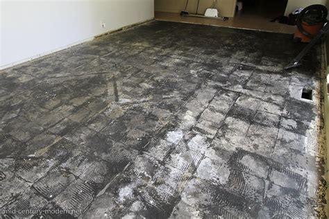 remove black mastic  concrete floor carpet