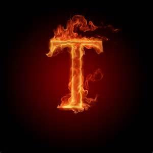 Fire Letter T