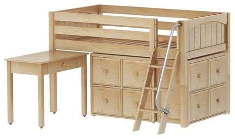 low loft bed with desk plans maxtrix low loft bed with angle ladder desk 2x4 drawer