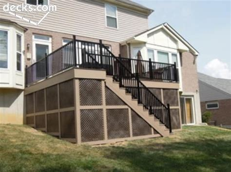 deck skirting ideas other than lattice azek deck w skirting home ideas decks