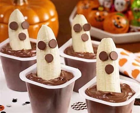 dessert banane chocolat halloween pour le plaisir des