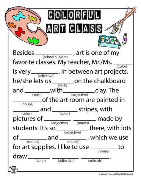 mad libs worksheets print now mad libs classroom language worksheets