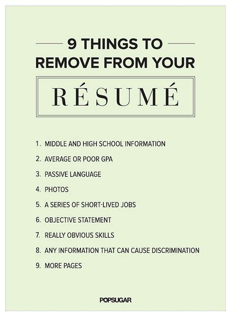 Things To On Your Resume by 9 Things To Remove From Your R 233 Sum 233 Right Now