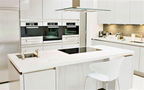cocina blanca  muebles sin tiradores imagenes  fotos