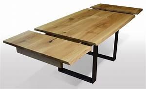 Esszimmertisch Holz Ausziehbar : tisch mit baumkante eiche breite 100cm l nge w hlbar ~ A.2002-acura-tl-radio.info Haus und Dekorationen