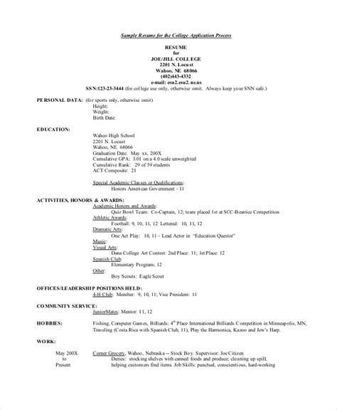 college resume examples templates