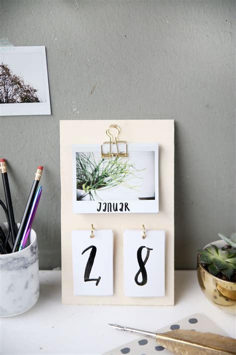 Kreative Ideen Zum Selbermachen by Diy Schreibtisch Kalender Mit Instax Fotos Selbstgemacht