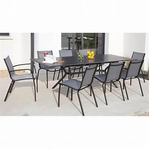 Table De Jardin Extensible Aluminium : table de jardin extensible en aluminium black argent ~ Teatrodelosmanantiales.com Idées de Décoration