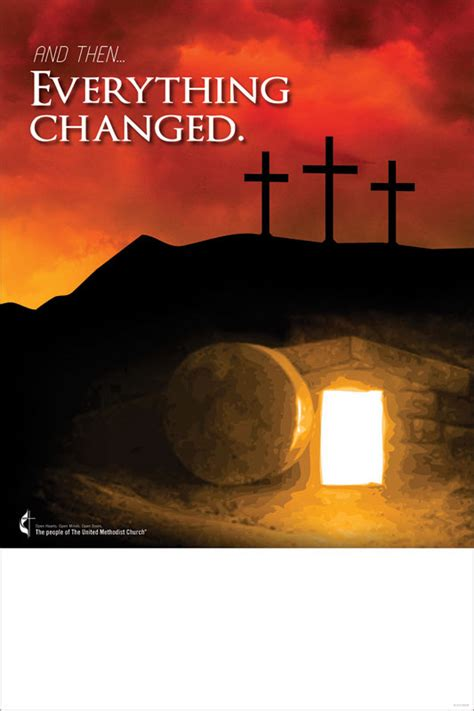 umc easter  changed poster church invitations