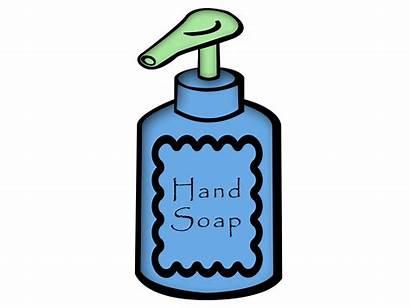 Soap Hand Bottle Draw Clipart Clip Hands