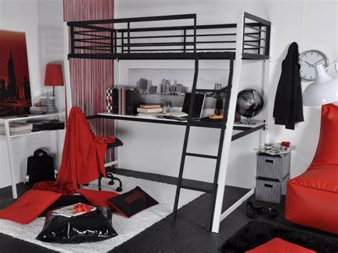 lit mezzanine 1 place bureau integre lit mezzanine malicio 90x190cm bureau option matelas
