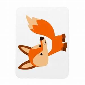 Cute Friendly Cartoon Fox Flexible Magnet   Zazzle