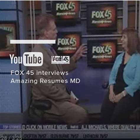 Amazing Resumes And Coaching Services by Fox 45 Interviews Amazing Resumes And Coaching Services