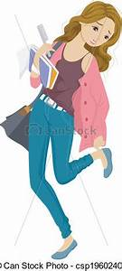 Girl Getting Ready For School Clipart - ClipartXtras