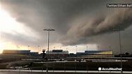 Iowa Speedway drenched in rain during tornado warning ...