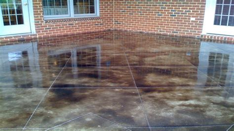 Stained concrete patio pictures, diy acid concrete stain