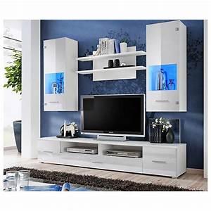 Meuble Tv Banc : ensemble meuble tv corte blanc d coration s jour ~ Teatrodelosmanantiales.com Idées de Décoration