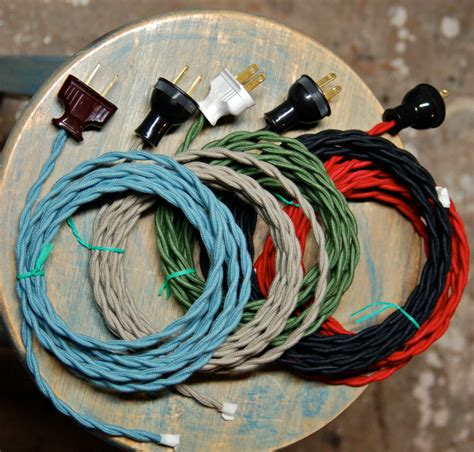 Twisted Cloth Covered Wire Plug Vintage Light Rewire