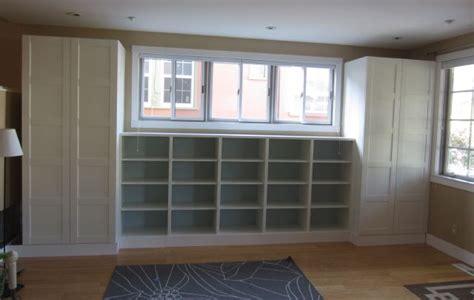 Ikea Besta Closet by Diy Built Ins Using Ikea Besta Shelves And Pax Wardrobes
