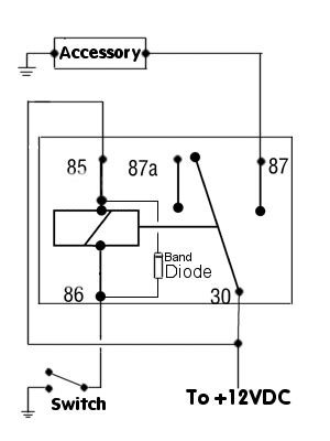 negative switched relay schematic diagram automotive