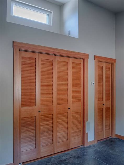 31 contemporary closet with louvered cabinets design ideas