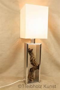 Lampe Aus Holz : treibholz lampe mit schirm tischlampe unikat ~ Eleganceandgraceweddings.com Haus und Dekorationen
