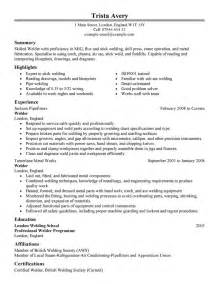 resume format welder fabricator best welder resume exle livecareer