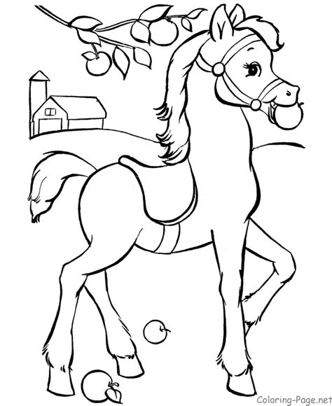 horse coloring page coloring home