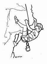 Rock Climber Drawing Climbing 2006 Getdrawings August sketch template