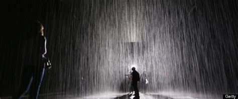rain rooms  week  moma  kids cry adults bond