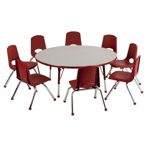 activity table and chairs ecr4kids round activity table chair package 48 quot round