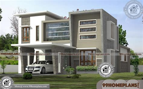 small cottage plans  porches  story flat roof modern designs