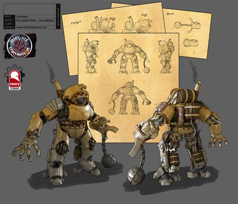 steampunk mech mechs concept stagnation games game mist rmory weapons dev ask pirates studios commander concepts mod multiplayer moddb artist