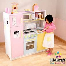 Kidkraft Large Pastel Wooden Play Kitchen With 3 Piece