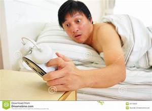 Wake Up Late Stock Image Image Of Face Napping Alarm