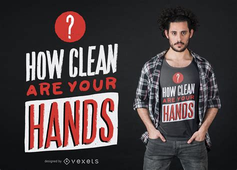 coronavirus clean hands quote  shirt design vector