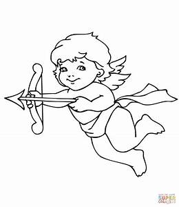 Cupid coloring pages to download and print for free