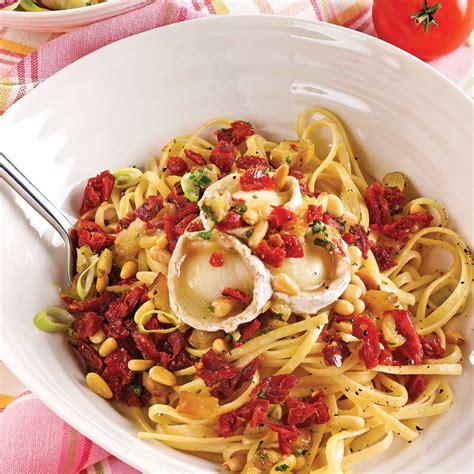 linguines aux tomates s 233 ch 233 es et ch 232 vre soupers de semaine recettes 5 15 recettes express