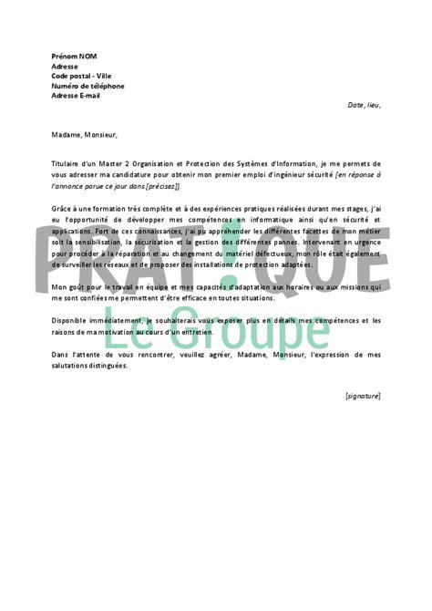 lettre de motivation employé de bureau lettre de motivation pour un emploi d ingénieur sécurité