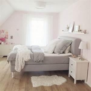 Schlafzimmer Rosa Grau : deko inspiration schlafzimmer ~ Frokenaadalensverden.com Haus und Dekorationen