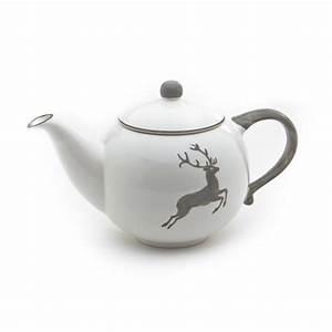 Teekanne 1 5l : grauer hirsch teekanne glatt 1 5l gmundner keramik manufaktur ~ Watch28wear.com Haus und Dekorationen
