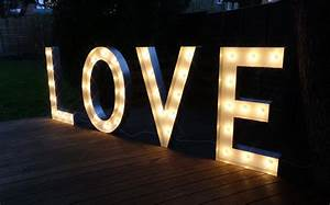 Hire love light up letters in large small sizes free standing for Light up love letters