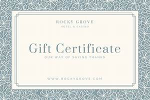 Hotel gift certificate templates canva for Canva gift certificate