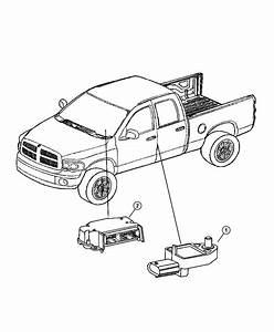 2004 Dodge Ram 3500 Module  Occupant Restraint  Light Duty