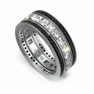 Black White Diamond Wedding Bands