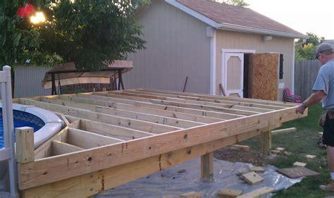 deck building building  deck   pool build