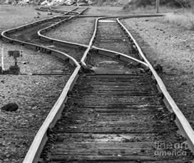 Railroad Train Track Switches