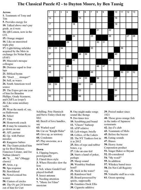 printable crossword puzzles 6 coloring
