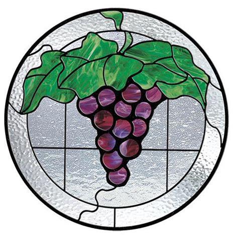 stained glass patterns grape circle pattern