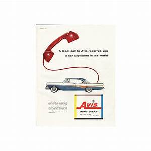 Avis Holidays Auto : 1958 avis rent a car vintage ad a local call ~ Medecine-chirurgie-esthetiques.com Avis de Voitures